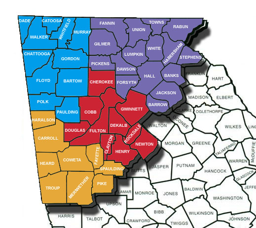 Map Of North Georgia Counties.Northern District Of Georgia Counties Northern District Of Georgia